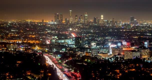 Los angeles města v noci