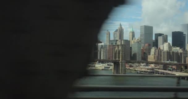 Brooklyn Bridge pohled z metra