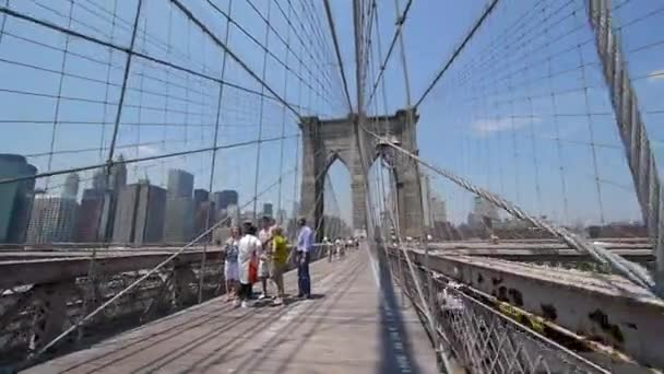 Ponte di Brooklyn a piedi a New York