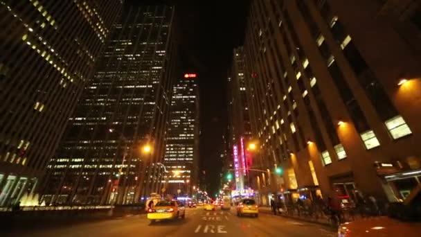 Řízení shot z New Yorku v noci