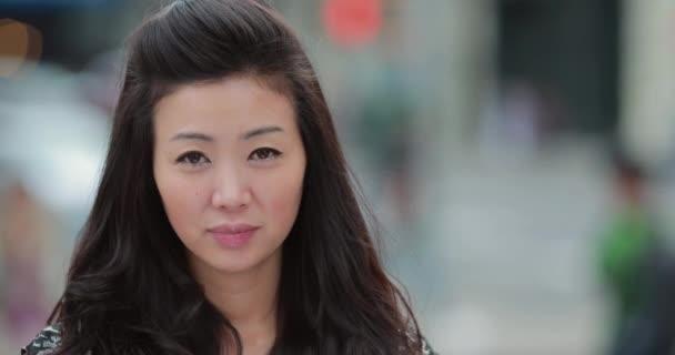 Asijské ženy, usmíval se šťastný obličej