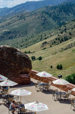 Cafe at red rocks in colorado