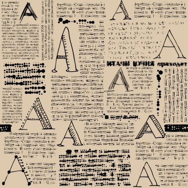 Imitation of newspaper with letters A.