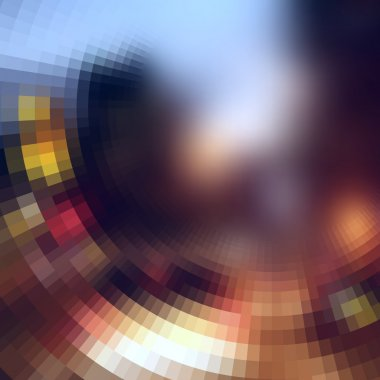 The blur effect gradually turning into faceted on defocused pho