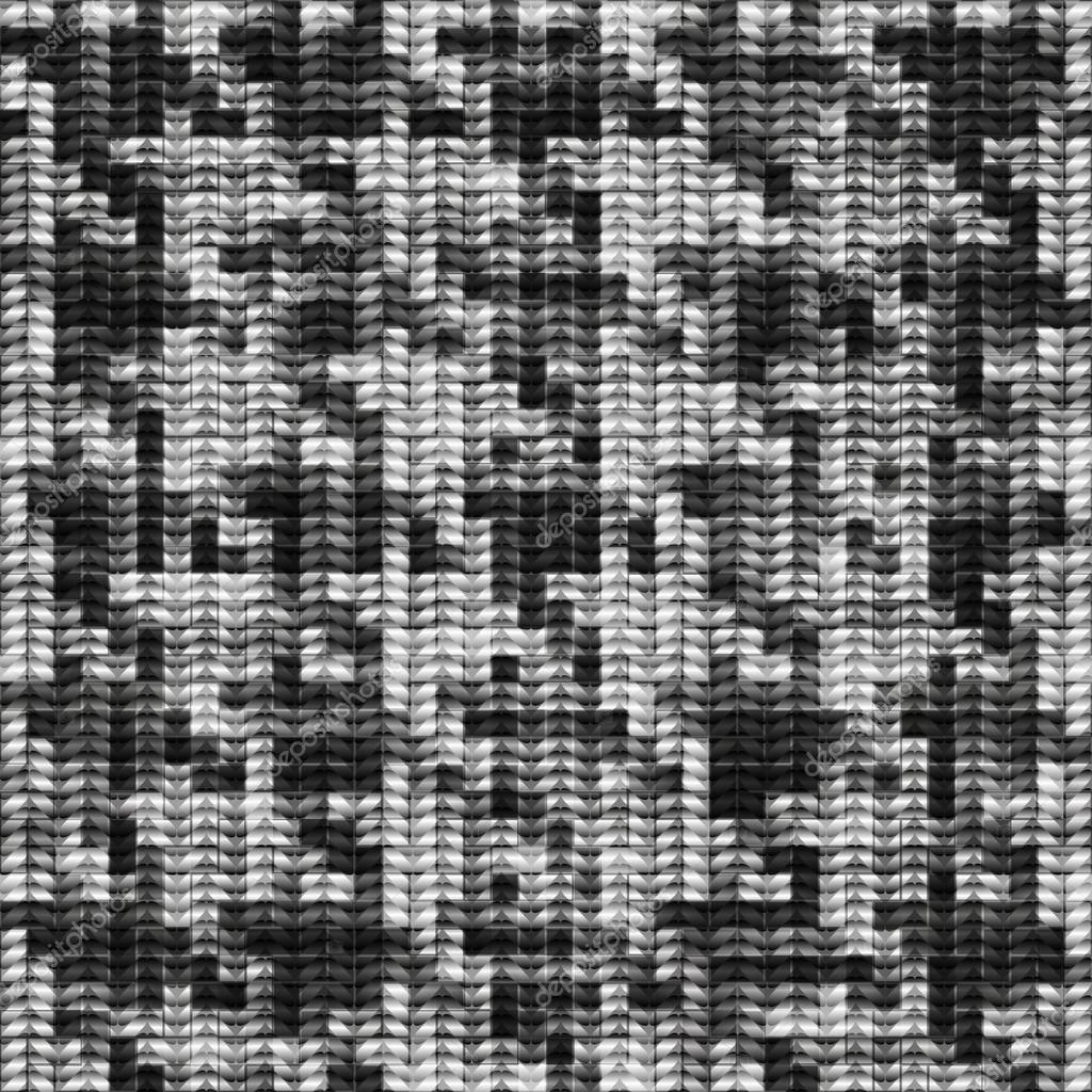Houndstooth knitted pattern. — Stock Vector © kastanka #86866708