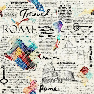 Rome newspaper background