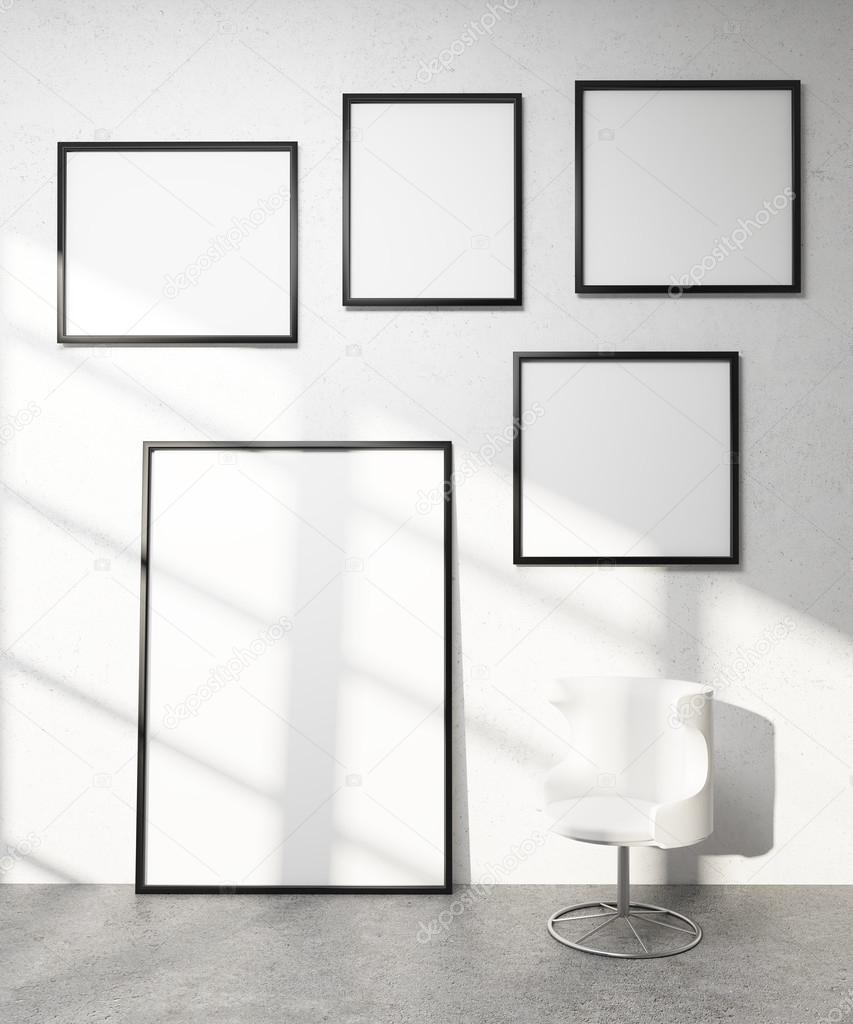 Cinco cuadros en la pared — Fotos de Stock © denisismagilov #103287208