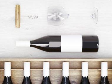 Wine bottles corkscrew