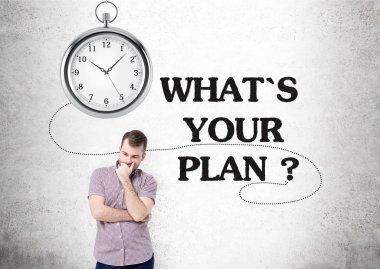 Plan clock man