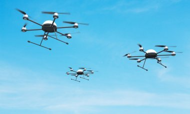 Quadrocopters in the sky
