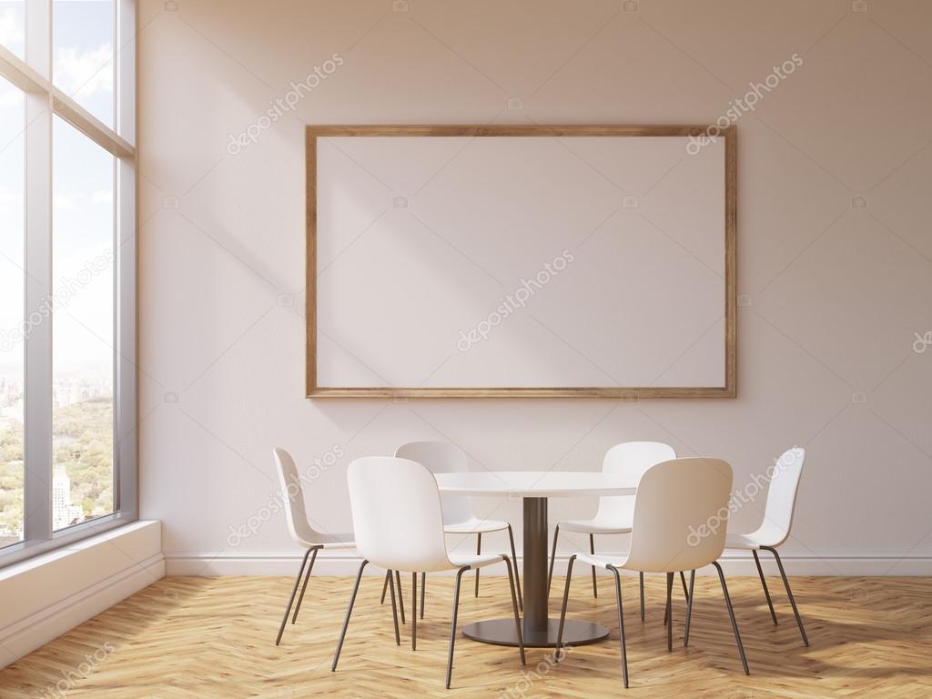 Marco y mesa de conferencia redonda — Fotos de Stock ...
