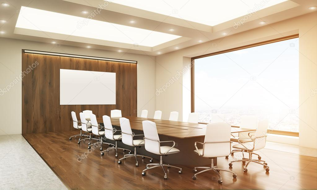 Whiteboard In Conference Room Toning Stock Photo Denisismagilov - Whiteboard conference table