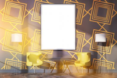 Blank frame in interior