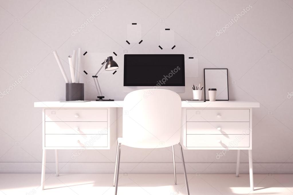 Elegante Computer Tisch Zu Hause Büro U2014 Stockfoto