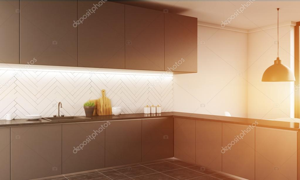 Interior de cocina contemporánea — Fotos de Stock © denisismagilov ...