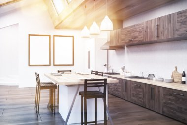 Kitchen with sunlit table