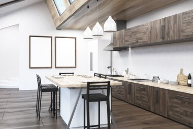 Kitchen interior with table