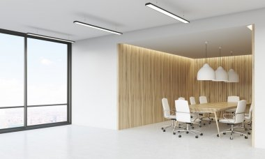 Meeting room and panoramic window