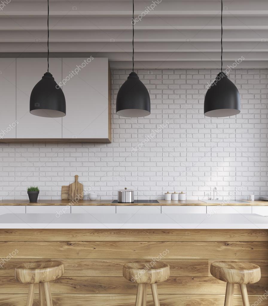 Bartheke in Küche — Stockfoto © denisismagilov #121486606