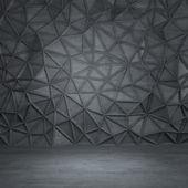 Tmavě šedá betonová místnost