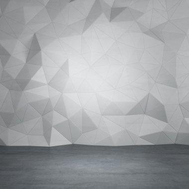 Gray concrete room