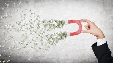 hand attracts money
