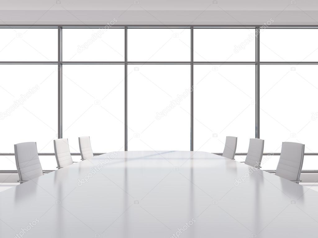 Sala panoramica in ufficio moderno, copia spazio vista dalle ...