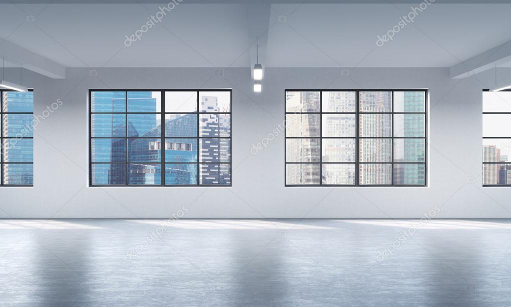 Fenster Loft moderne helle saubere innenraum eines loft stil offenen raum