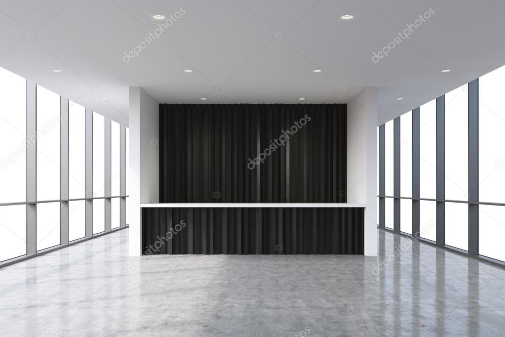 a reception area in a modern bright clean office interior huge