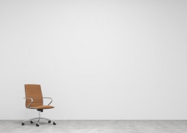 Castor chair  at the concrete background