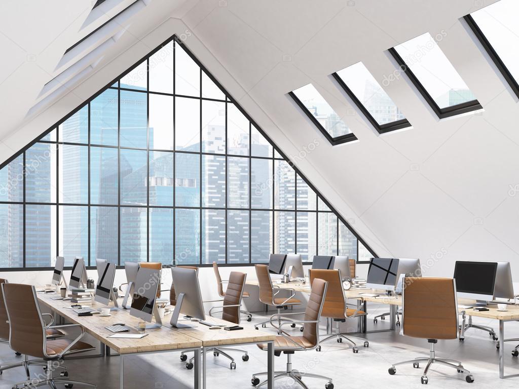 Schreibtisch für open space holz melamin modern pigreco