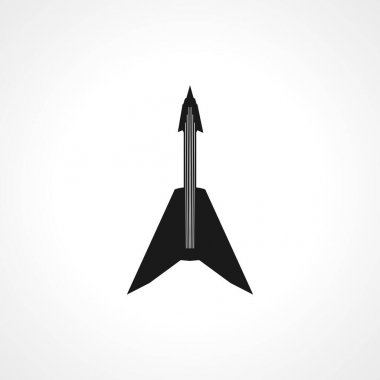 electric heavy metal guitar icon. electric guitar simple vector icon. electric guitar isolated icon.