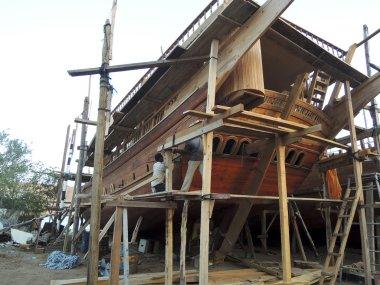 Traditional handiwork shipbuilding Sur Oman- 30.01.2013