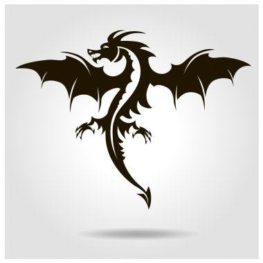 Vector dragon with shade