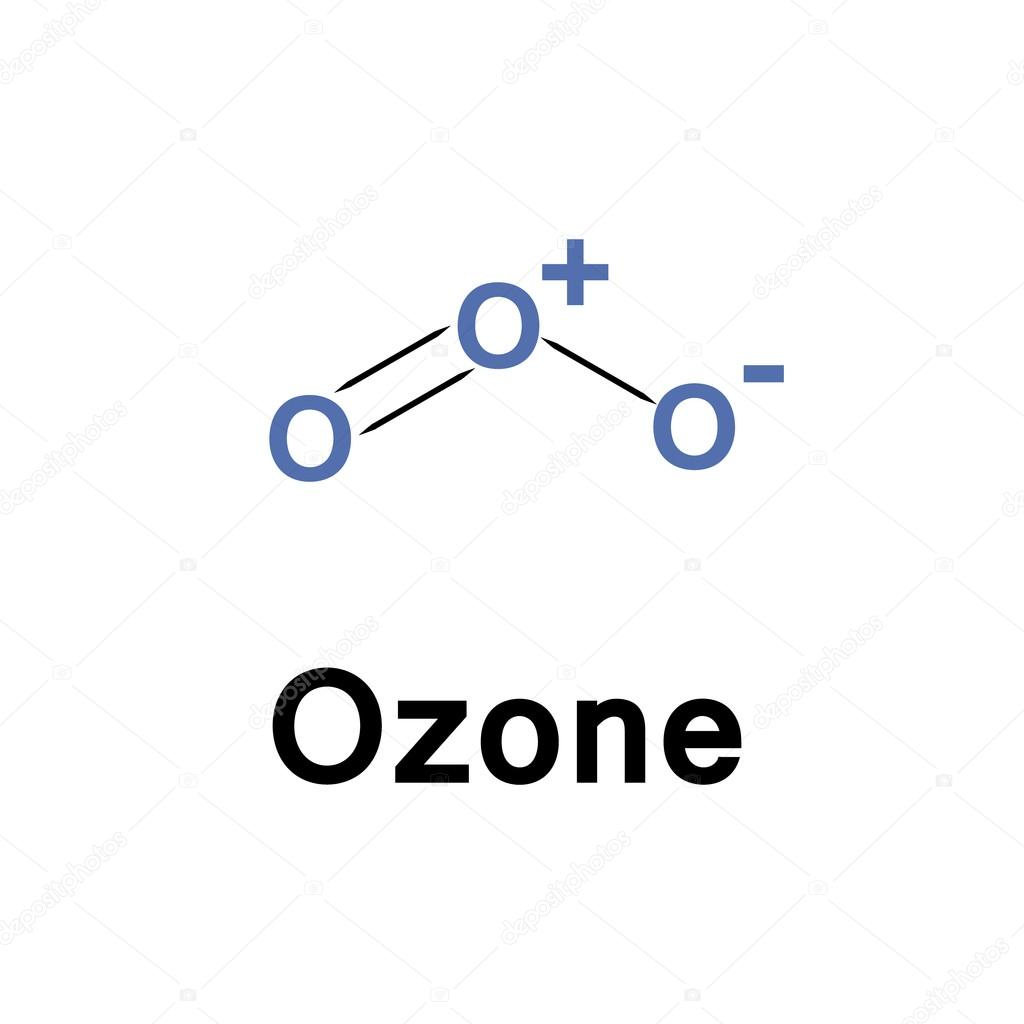 Ozone molecule structure — Stock Vector © lyricsaima #122175022