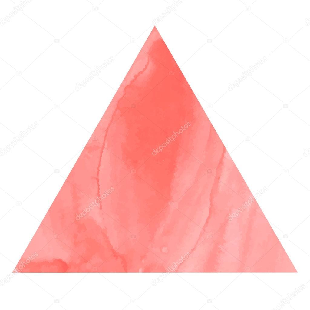 marco triángulo acuarela — Vector de stock © lyricsaima #52384695