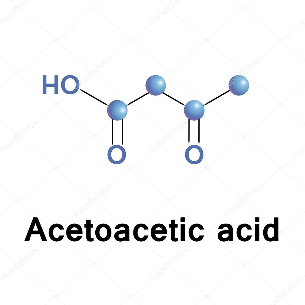 Acetoacetic acid structure stock vector lyricsaima 99113094 acetoacetic acid is one of the endogenous ketone bodies produced by the liver when it breaks down fatty acids for atp production molecular structure pooptronica