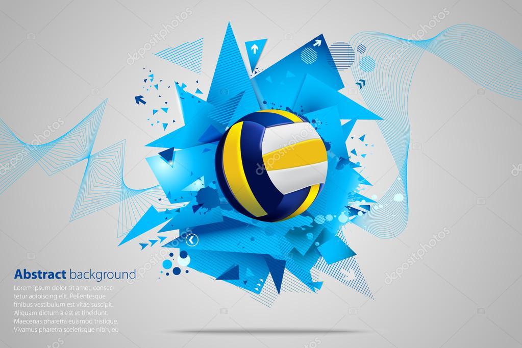 Stock Illustration Volleyball Tribal Abstract Vector: Волейбол фон. Абстрактный фон волейбол
