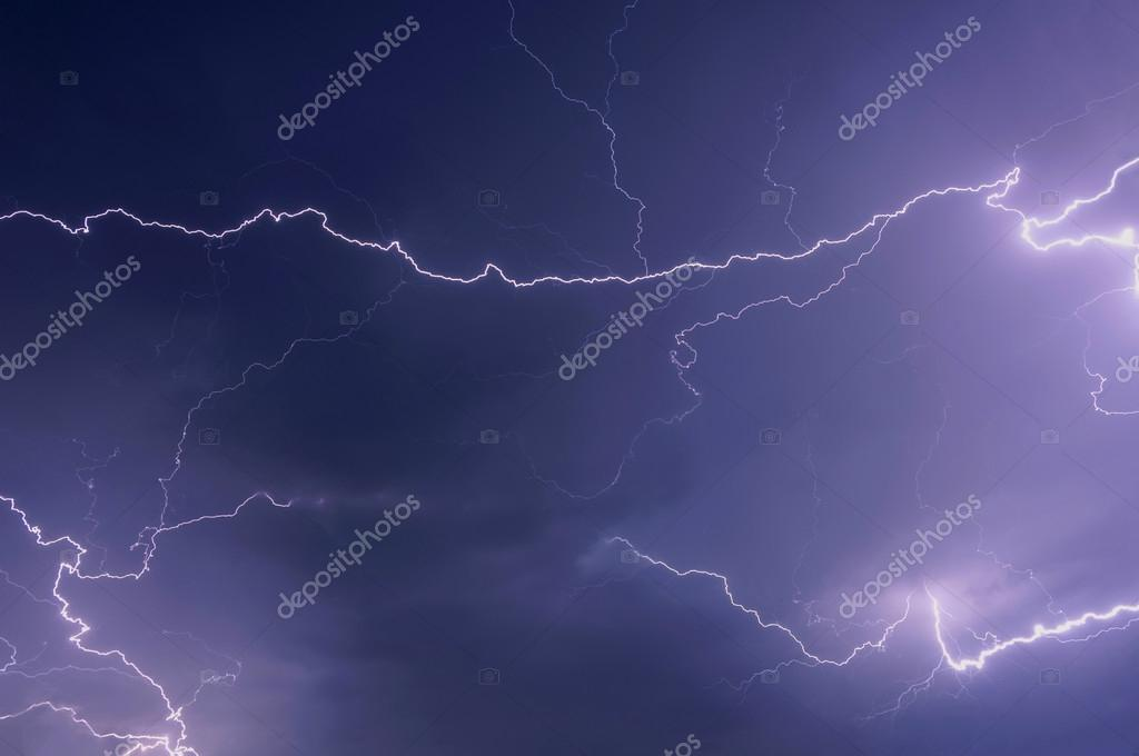 Beautiful Lightning On A Dark Blue Sky During Thunderstorm Photo By Iri Sha