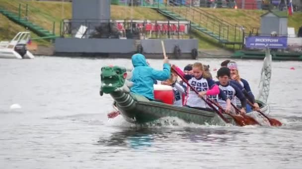 Chinese Dragon boat.Rowing competitions.