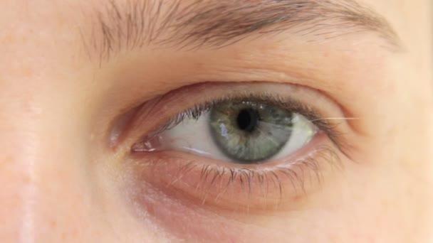 Oko mladé dívky. Makro