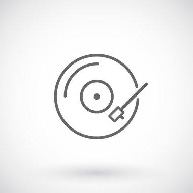 Vinyl record outline icon