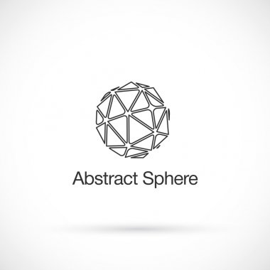 Abstract low poly, logo design vector template.