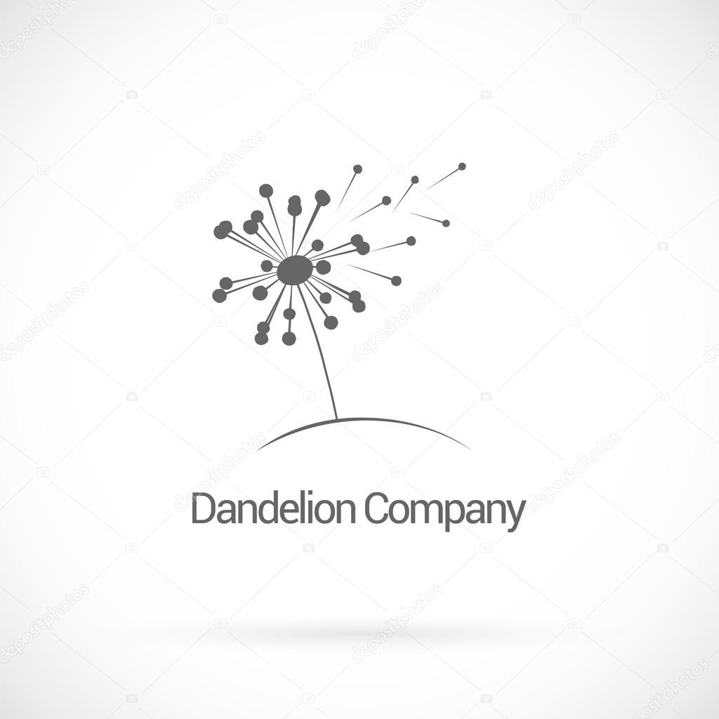 dandelion logo design vector template stock vector maximsamos