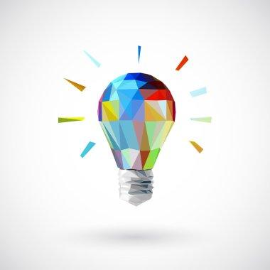 Low poly light bulb
