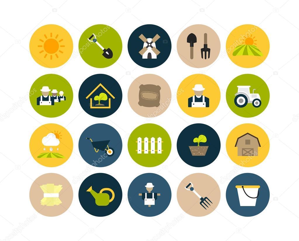 Farm and farming icons