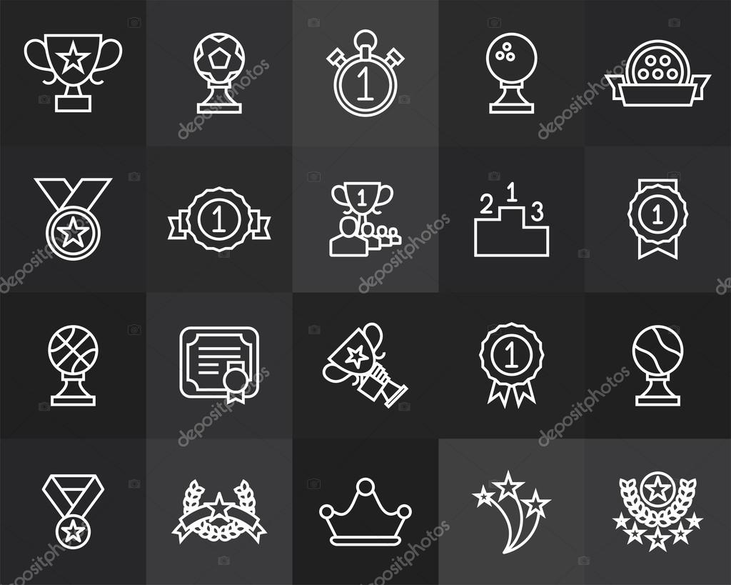 Prizes and awards icons