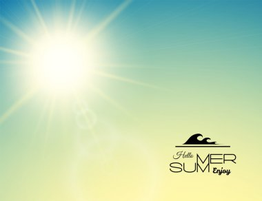 Summer background, summer sun with lens flare