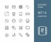 Osnovy ikony tenký plochý design, moderní linie styl tahu