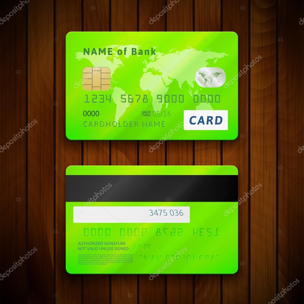 zwei Seiten von Kreditkarten — Stockvektor © sidmay #54779561